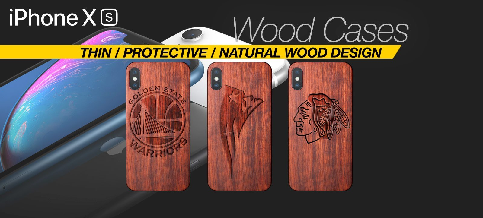 Handcrafted Wood iPhone XS Case Best Wood iPhone XS Cover Real Wood Slim Wood iPhone XS
