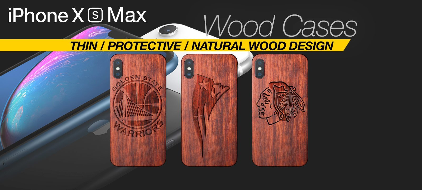 Handcrafted Wood iPhone XS Max Case Best Wood iPhone Xs Max Cover Real Wood Slim Wood iPhone XS Max