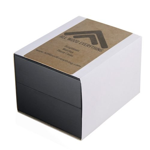 Gold Xhron Series Metal And Mahogany Wood Watch Best Unique Wood Watch Best Mens Wood Watch Packaging