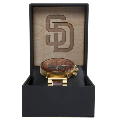 MLB San Diego Padres Gold Metal and Wood Watch - Wrist Watch