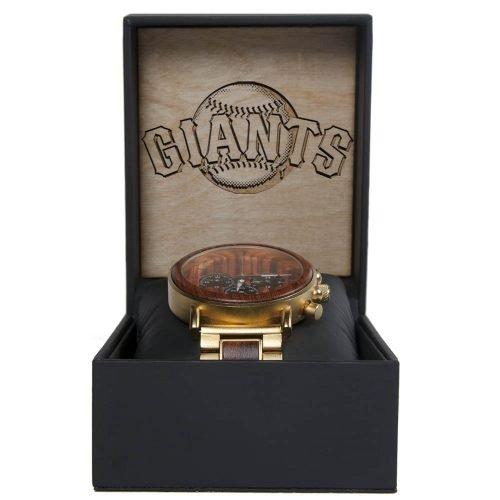 MLB San Francisco Giants Gold Metal and Wood Watch - Wrist Watch