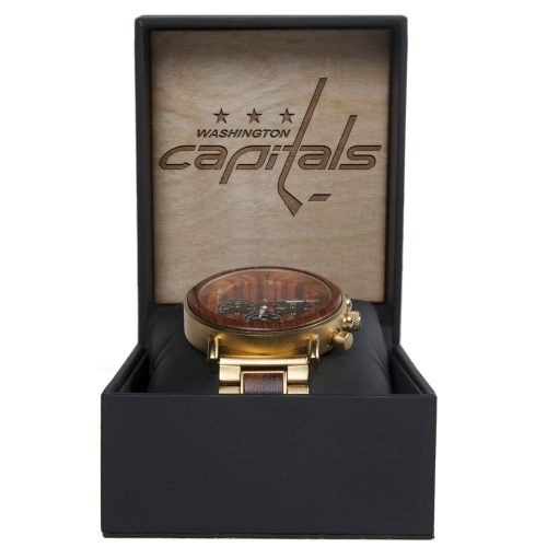 NHL Washington Capitals Gold Metal and Wood Watch - Wrist Watch