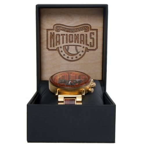 MLB Washington Nationals Gold Metal and Wood Watch - Wrist Watch
