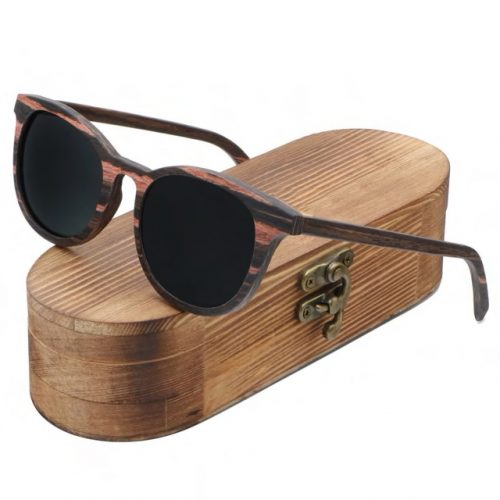 Best Mens Wooden Sunglasses Handmade Black Mahogany Wayfarer Wood Sunglasses