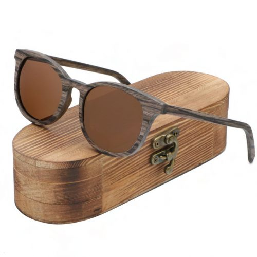 Best Mens Wooden Sunglasses Handmade Brown TigerEye Wood Sunglasses