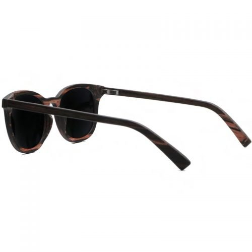 Mens Wooden Sunglasses Handmade Black Mahogany Wayfarer Real Wood Sunglasses Inside