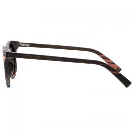 Mens Wooden Sunglasses Handmade Black Mahogany Wayfarer Real Wood Sunglasses Left