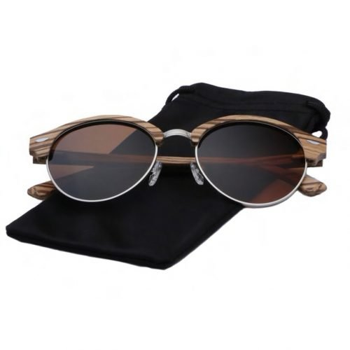 Womens Wooden Sunglasses Handmade Brown TigerEye Browline Clubmaster Wood Sunglasses Cloth