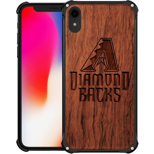 Arizona Diamondbacks iPhone XR Case - Hybrid Metal and Wood Cover