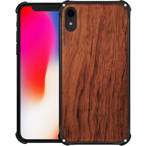 best-iphone-xr-case-real-wood-iphone-xr-most-protective-hybrid-metal-and-wooden-iphone-xr-cover