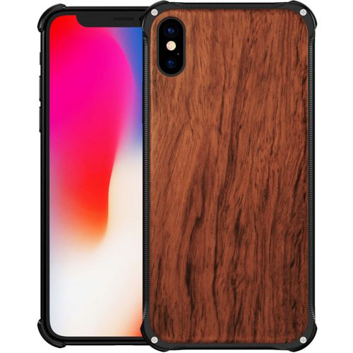 best-iphone-xs-case-real-wood-iphone-xs-most-protective-hybrid-metal-and-wooden-iphone-xs-cover