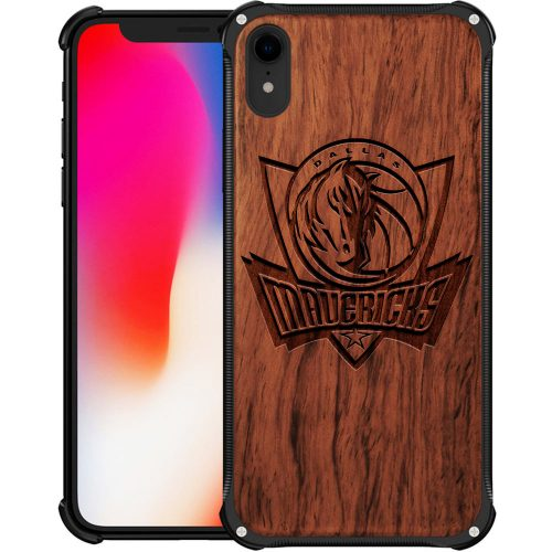 Dallas Mavericks iPhone XR Case - Hybrid Metal and Wood Cover