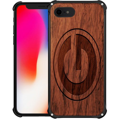 Green Bay Packers iPhone 8 Case - Hybrid Metal and Wood Cover