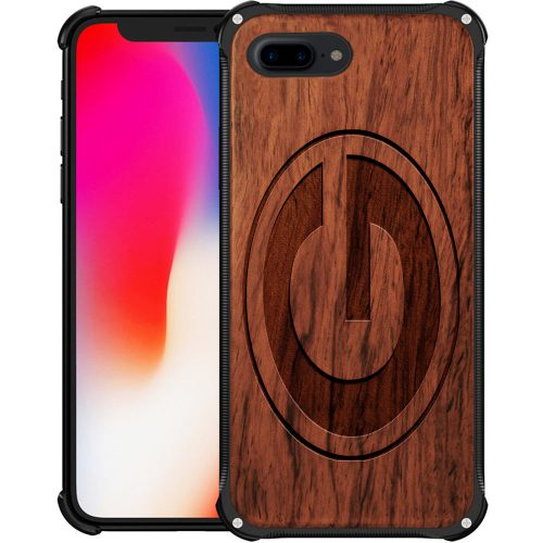 Green Bay Packers iPhone 8 Plus Case - Hybrid Metal and Wood Cover