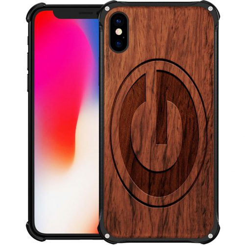 Green Bay Packers iPhone XS Case - Hybrid Metal and Wood Cover