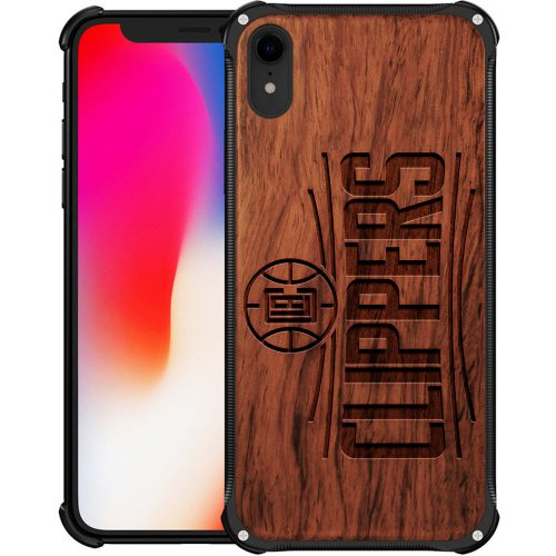 Los angeles Clippers iPhone XR Case - Kawhi Leonard Hybrid Metal and Wood Cover
