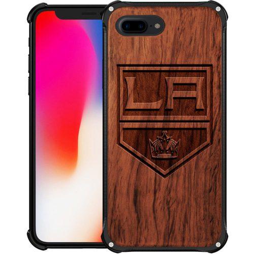 Los Angeles Kings iPhone 7 Plus Case - Hybrid Metal and Wood Cover