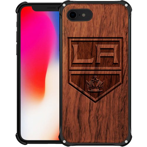 Los Angeles Kings iPhone 8 Case - Hybrid Metal and Wood Cover