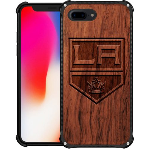 Los Angeles Kings iPhone 8 Plus Case - Hybrid Metal and Wood Cover