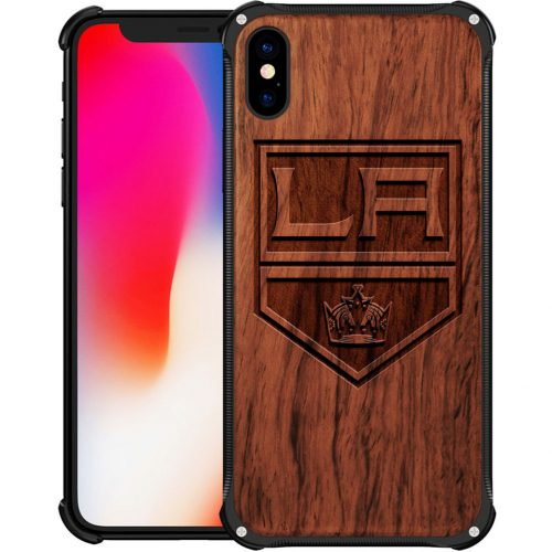 Los Angeles Kings iPhone XS Case - Hybrid Metal and Wood Cover