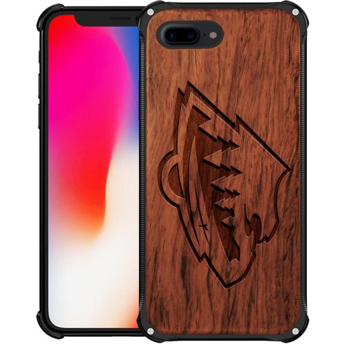 Minnesota Wild iPhone 8 Plus Case - Hybrid Metal and Wood Cover