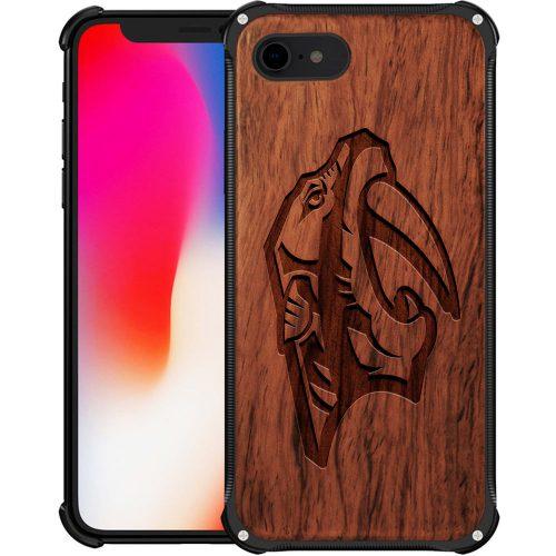 Nashville Predators iPhone 7 Case - Hybrid Metal and Wood Cover