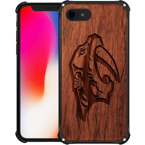 Nashville Predators iPhone 8 Case - Hybrid Metal and Wood Cover
