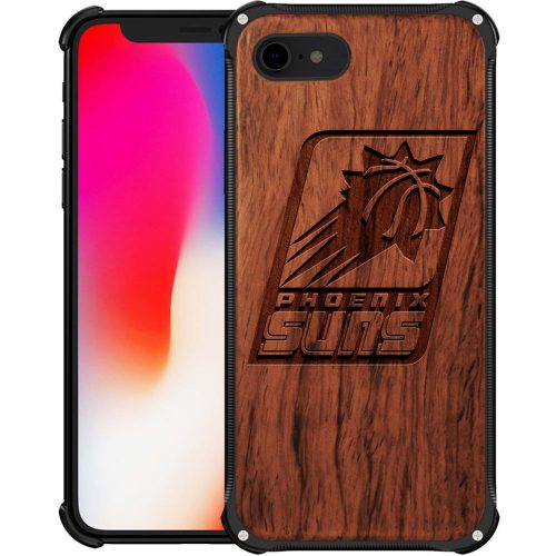 Phoenix Suns iPhone 7 Case - Hybrid Metal and Wood Cover