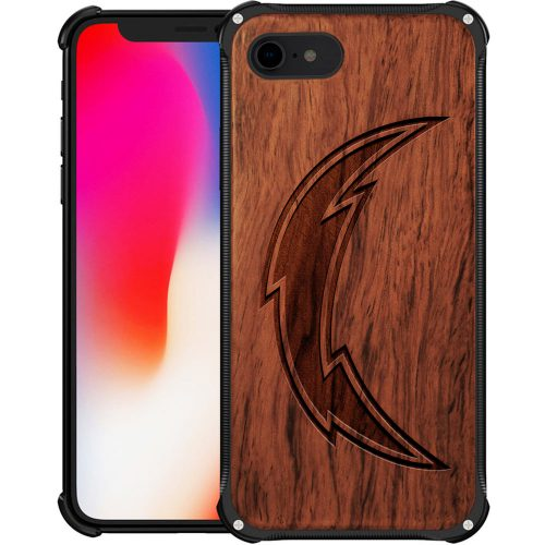 San Diego Chargers iPhone 7 Case - Hybrid Metal and Wood Cover