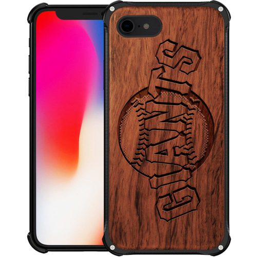 San Francisco Giants iPhone 8 Case - Hybrid Metal and Wood Cover