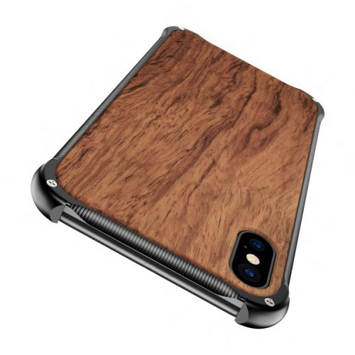 Wood iPhone X Case - Mahogany Wooden iPhone X Cover