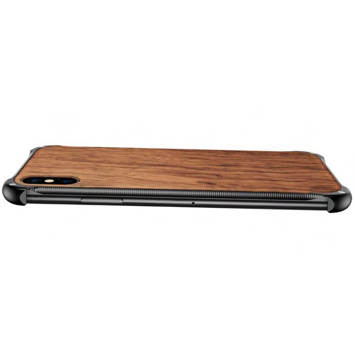 Wooden The Beatles iPhone X Case - Hybrid Metal and Wood Cover John Lennon Case - Hybrid Metal and Wood Cover