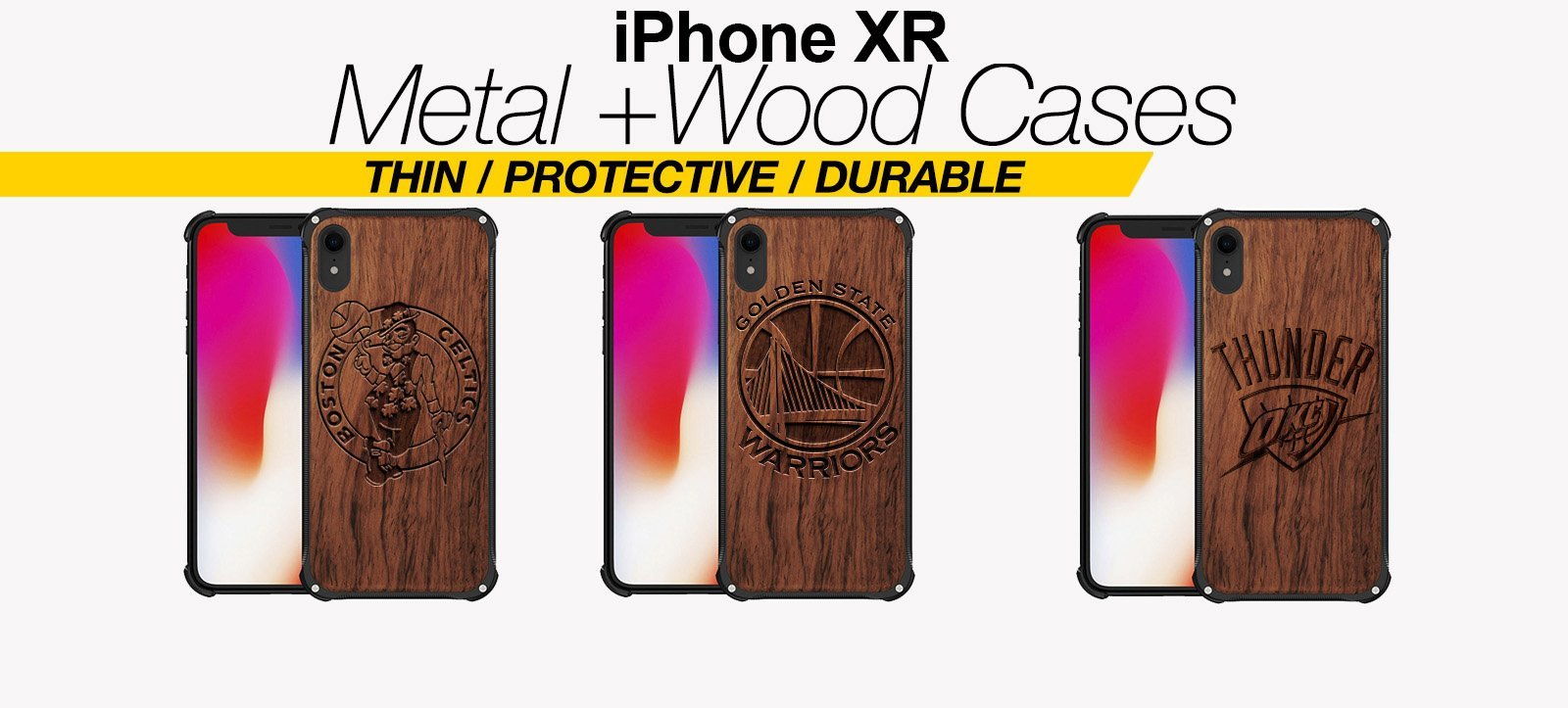 Wood And Metal iPhone XR Cases Best Wood And Metal iPhone XR Covers Thin Protective Eco Friendly