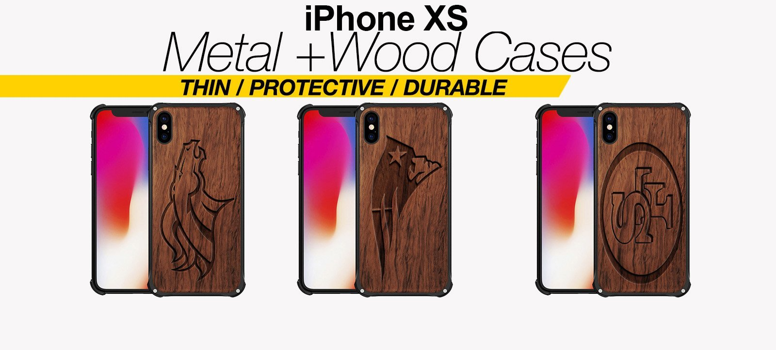 Wood And Metal iPhone XS Cases Best Wood And Metal iPhone XS Covers Thin Protective Eco Friendly