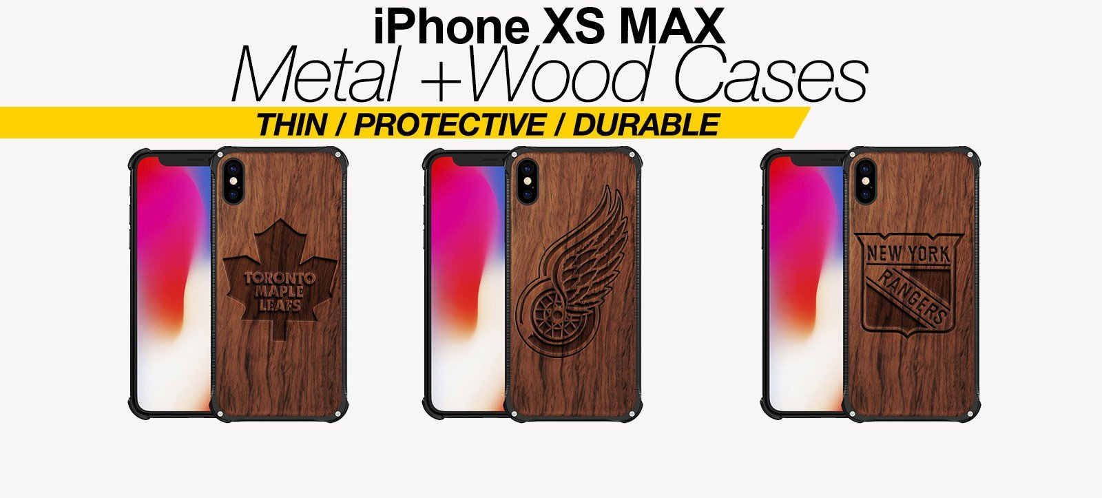 Wood And Metal iPhone XS Max Cases Best Wood And Metal iPhone XS Max Covers Thin Protective Eco Friendly