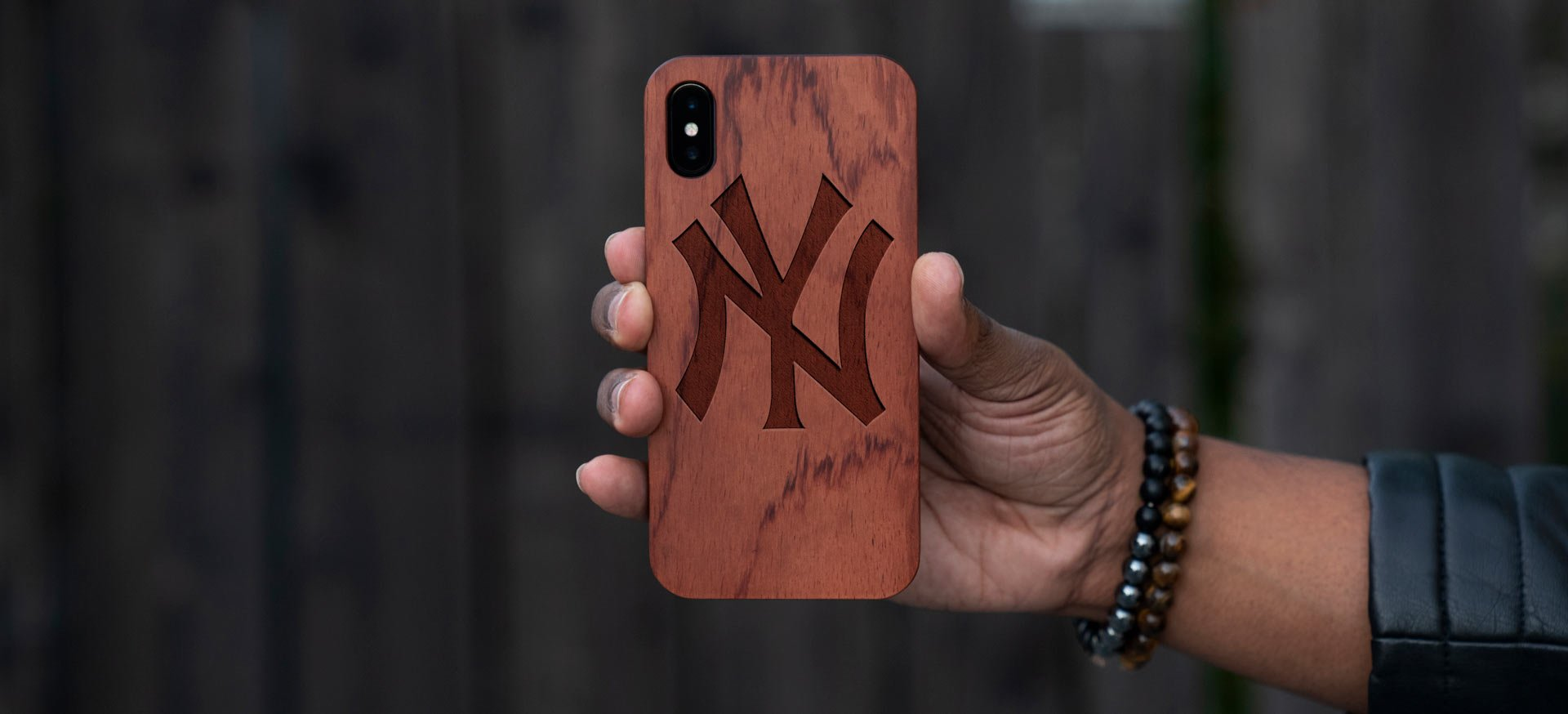 Real Wood NY Yankees iPhone XR Case - XS Case - XS Max Cover
