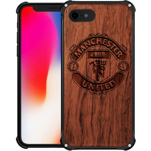 Manchester United FC iPhone 7 Case - Hybrid Wood And Metal iPhone 7 Cover