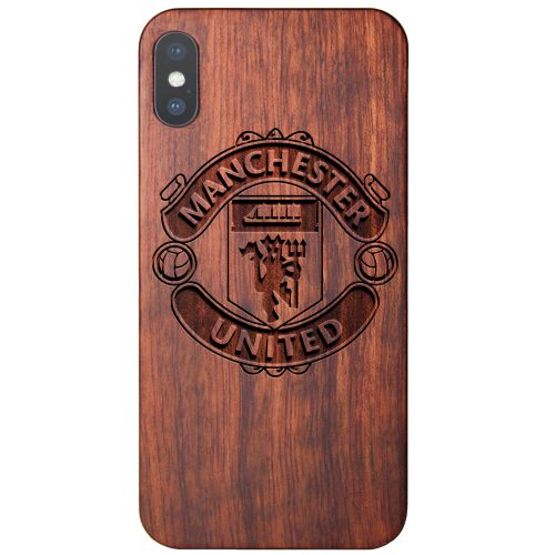 Manchester United FC iPhone X Case - Wood iPhone X Cover