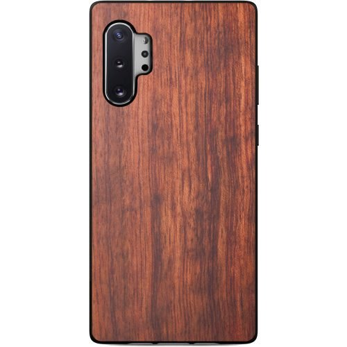 Wood Samsung Note 10 Plus Case - Mahogany Wooden Samsung Note 10 Plus Case